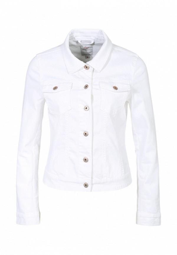 Куртка джинсовая s.Oliver SO917EWBRJ89. Цвет: белый