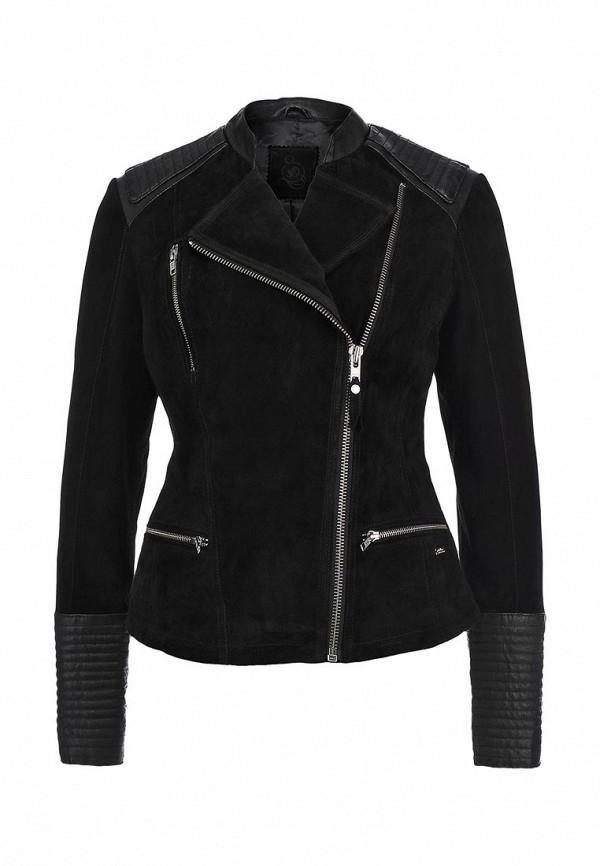 Куртка кожаная s.Oliver SO917EWCLJ16. Цвет: черный