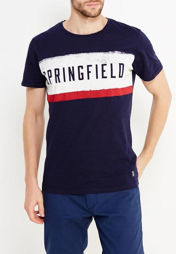 Футболка Springfield Springfield SP014EMVGC75 hugo boss галстук в полоску