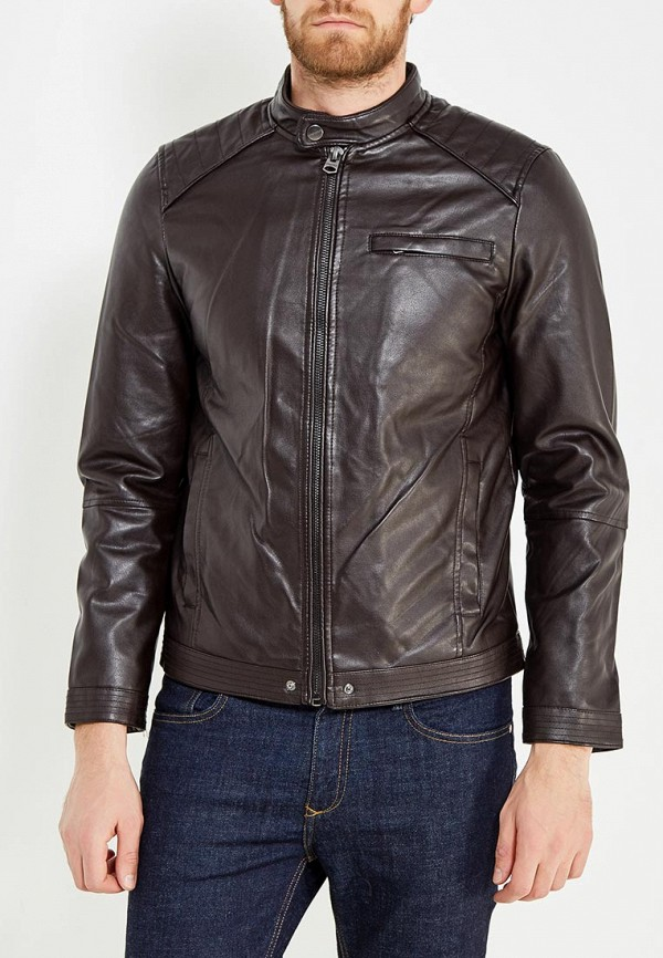 Куртка кожаная Springfield Springfield SP014EMVGD03 куртка springfield springfield sp014emvgd15