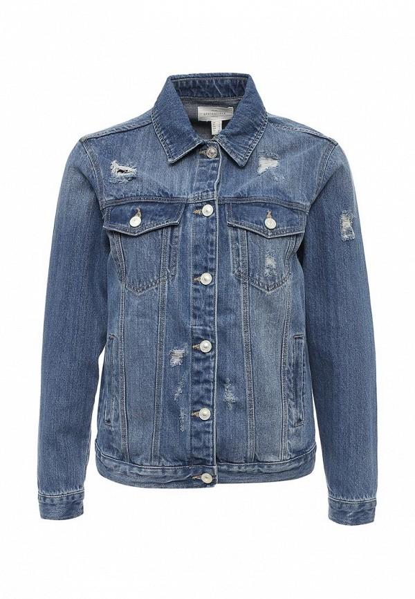 Куртка джинсовая Springfield. Цвет: фиолетовый