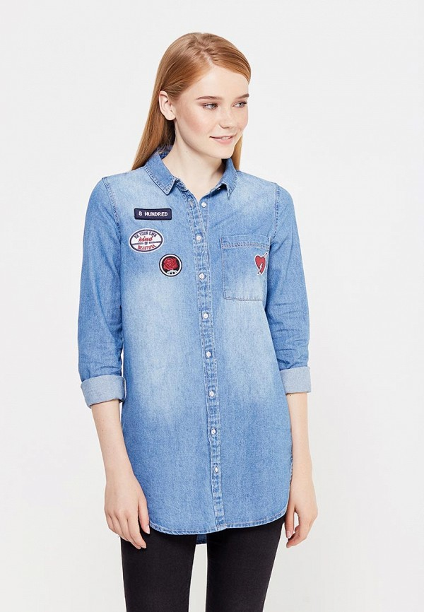 Рубашка джинсовая Springfield Springfield SP014EWVGE34 пуховик springfield springfield sp014emvgd17