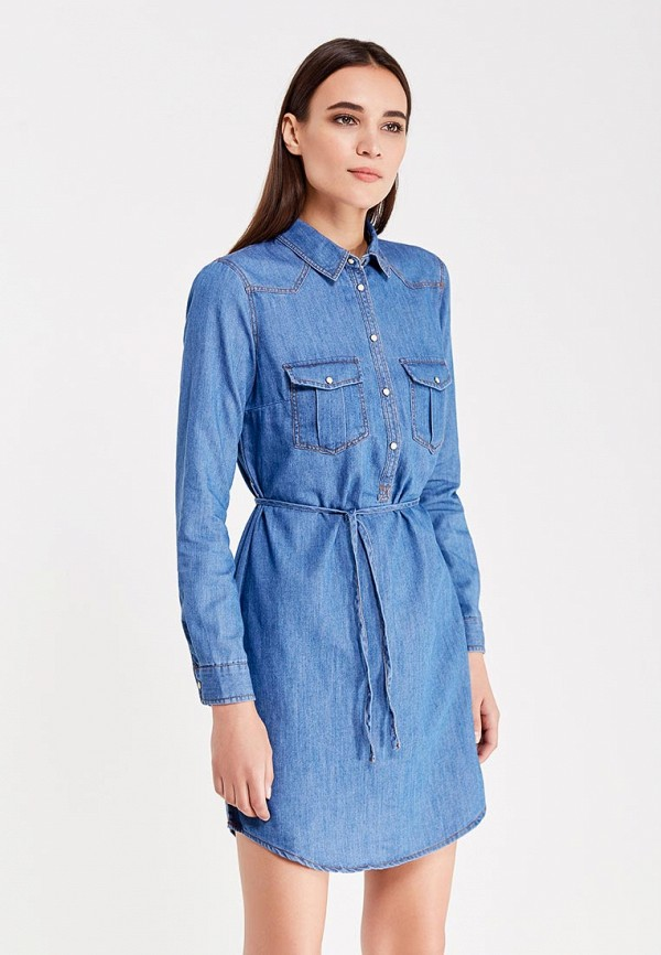 Платье джинсовое Springfield Springfield SP014EWVGI65 парка springfield springfield sp014ewhyp70
