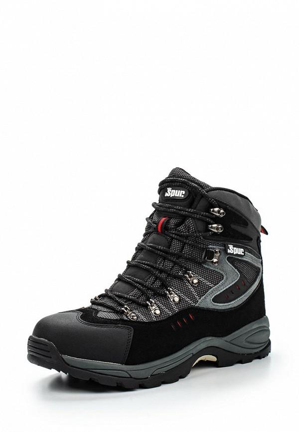 Спортивные мужские ботинки Spur (Спур) 1SP_09-A22_BLACK-DK.GREY
