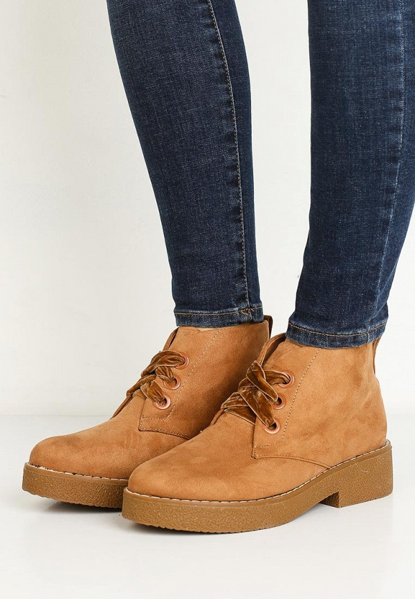 Летние ботинки женские на шнурках