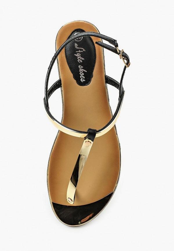 Фото 9 - женские сандали Style Shoes черного цвета