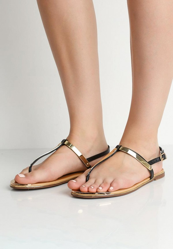 Фото 5 - женские сандали Style Shoes черного цвета