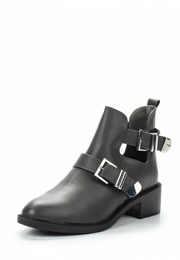 Ботильоны Style Shoes. Цвет: серый