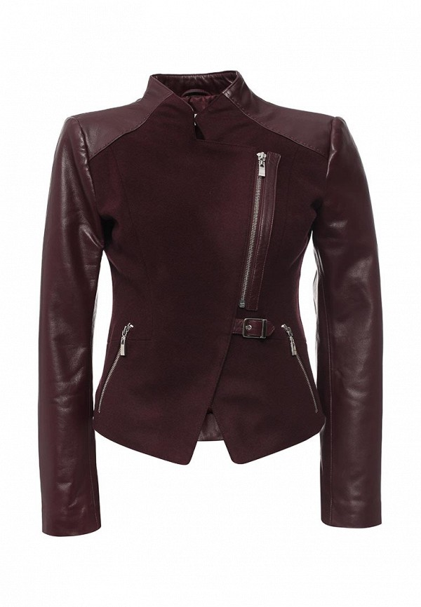 Кожаная куртка Steven-K TLC_245_BORDEAUX(DP-467)