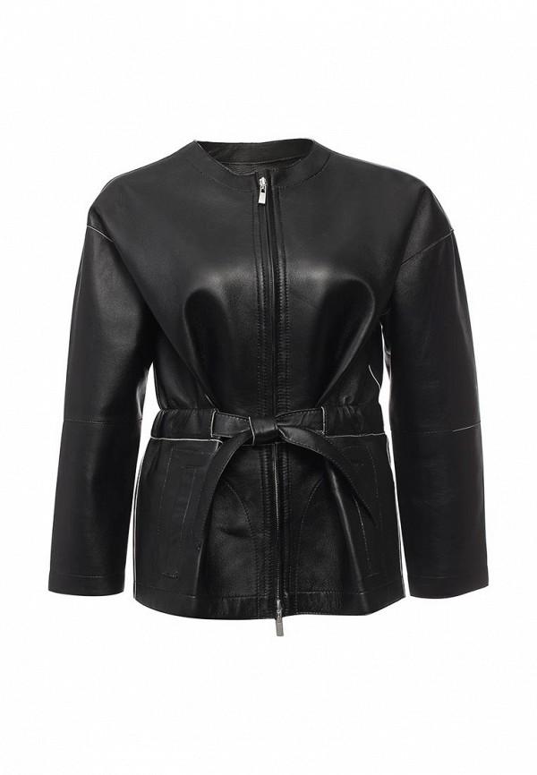 Кожаная куртка Steven-K LC_669_BLACK/BEIGE(DF-389)