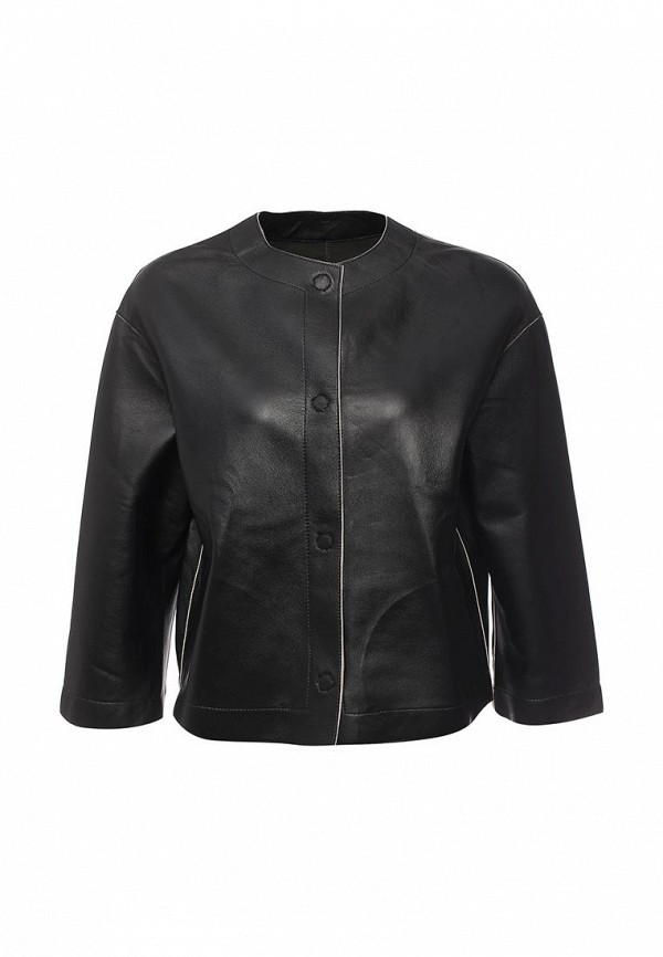 Кожаная куртка Steven-K LC_683_BLACK/BEIGE(DF-389)
