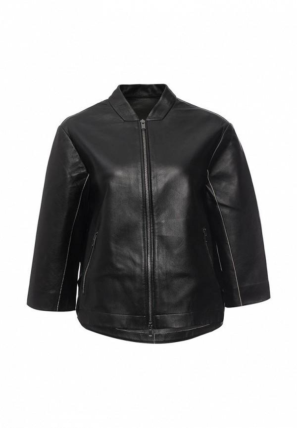 Кожаная куртка Steven-K LK_259_BLACK/BEIGE(DF-389)