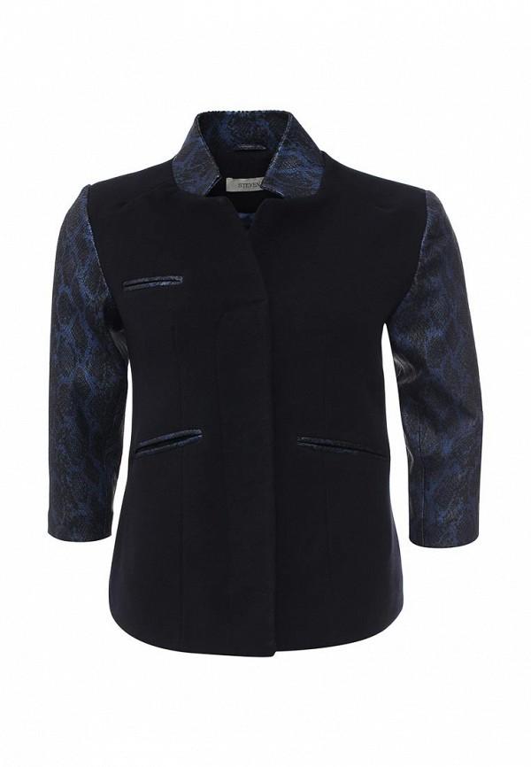Кожаная куртка Steven-K TLC_392_BLACK/NAVY(SP-52)