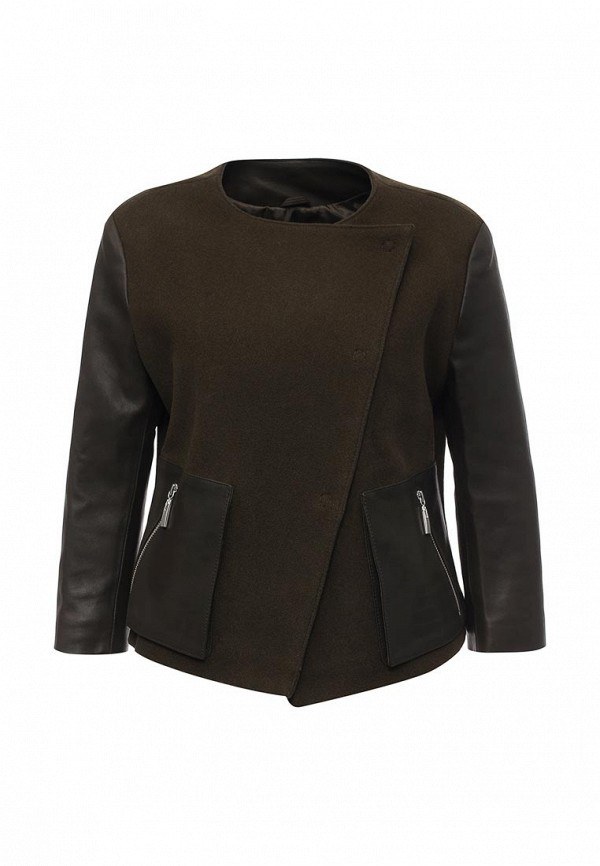 Кожаная куртка Steven-K TLC_415_KHAKI(DP_471)