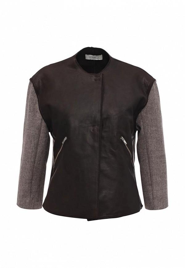 Кожаная куртка Steven-K TLC_634_D.BROWN(DP_470)