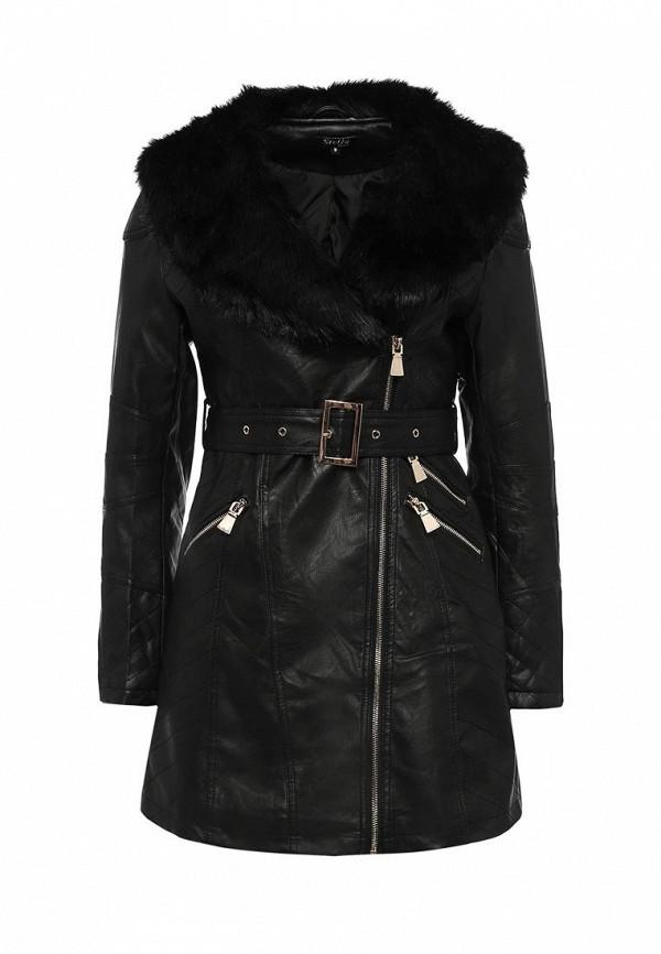Купить Куртку кожаная Stella Morgan черного цвета