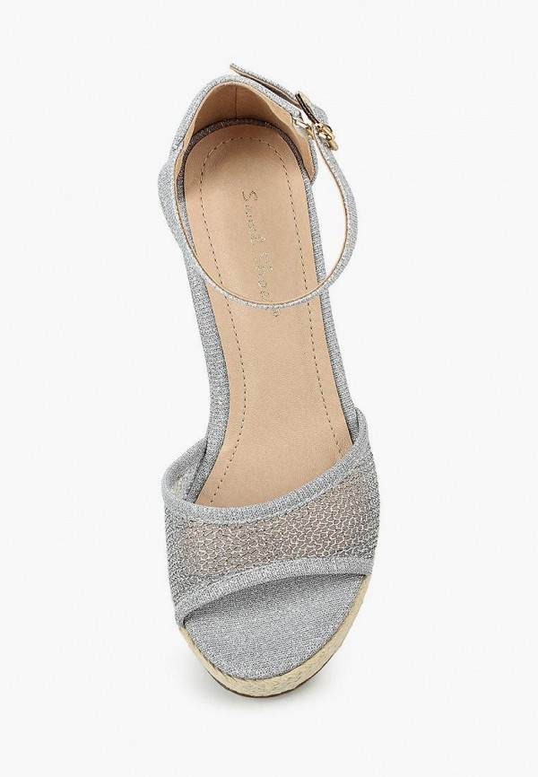Фото 8 - женские босоножки Sweet Shoes серебрянного цвета