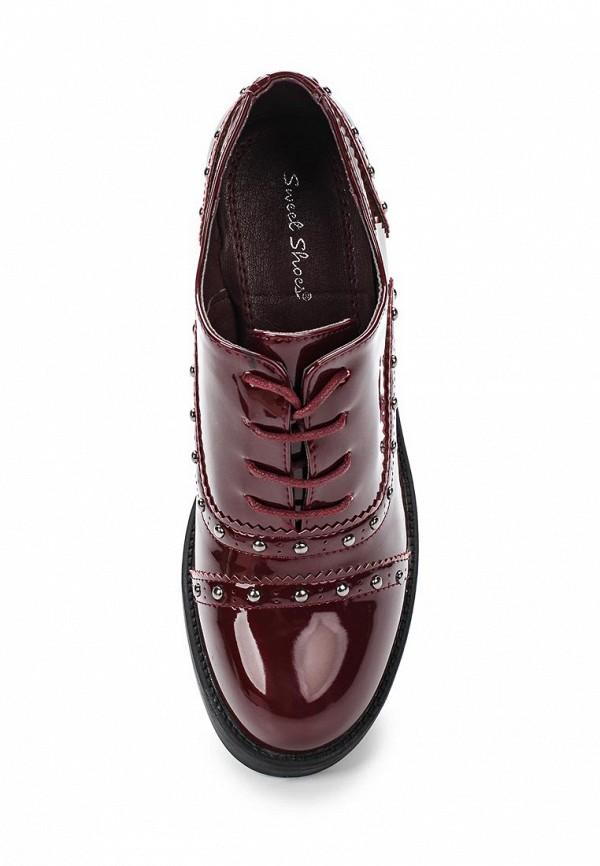 Фото 4 - женские ботильоны Sweet Shoes бордового цвета