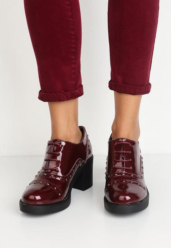 Фото 5 - женские ботильоны Sweet Shoes бордового цвета