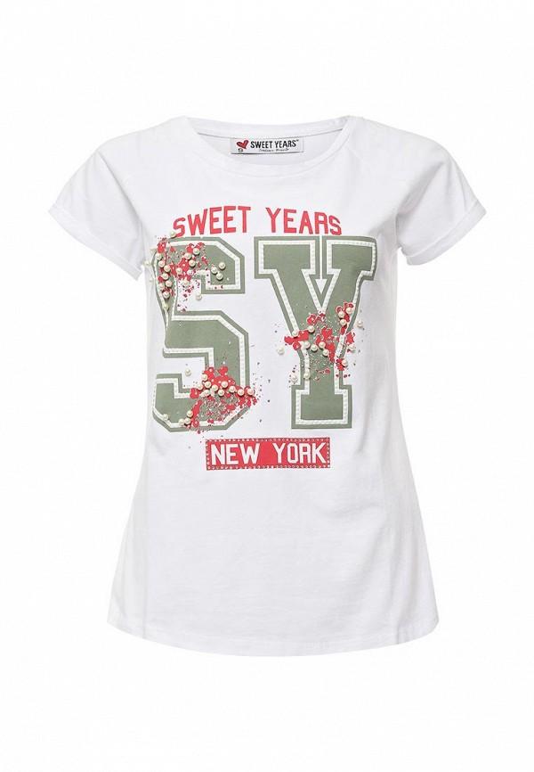 Футболка с надписями Sweet years SD34SWT00023