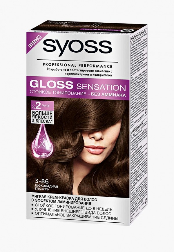 Купить Краска для волос Syoss, 3-86 Шоколадная глазурь, 115 мл, SY001LWJOJ79, Весна-лето 2018