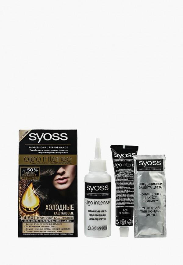 Купить Краска для волос Syoss, Oleo Intense 4-50 Графитовый каштановый, 115 мл, SY001LWSII48, Весна-лето 2018