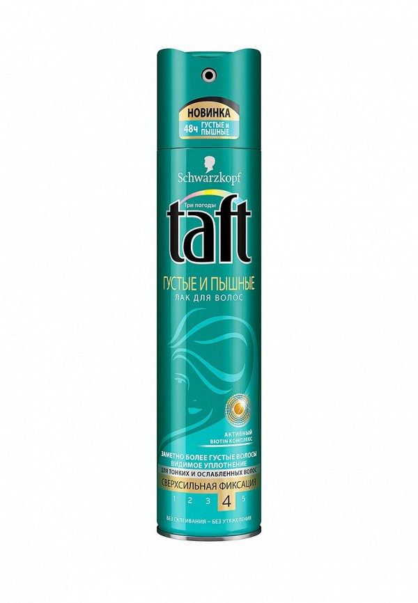 Лак для волос Taft Три погоды Густые и Пышные, 225 мл