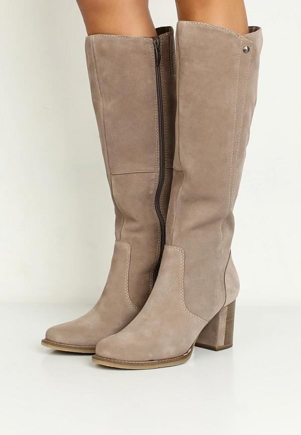 Замшевые зимние сапоги женские на каблуке