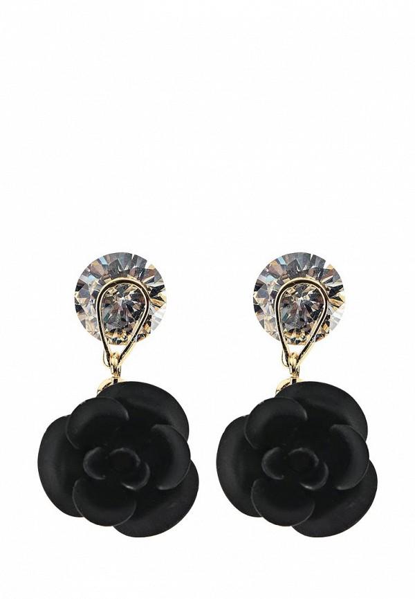 Женские серьги Taya T-B-9732-EARR-BLACK