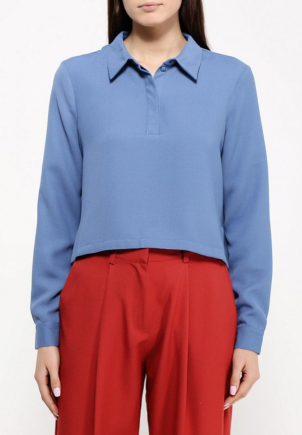 Фото 3 - женскую блузку The Fifth голубого цвета