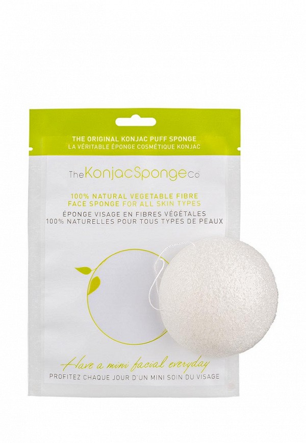 Спонж The Konjac Sponge Co для умывания лица Facial Puff Konjac Sponge Pure White