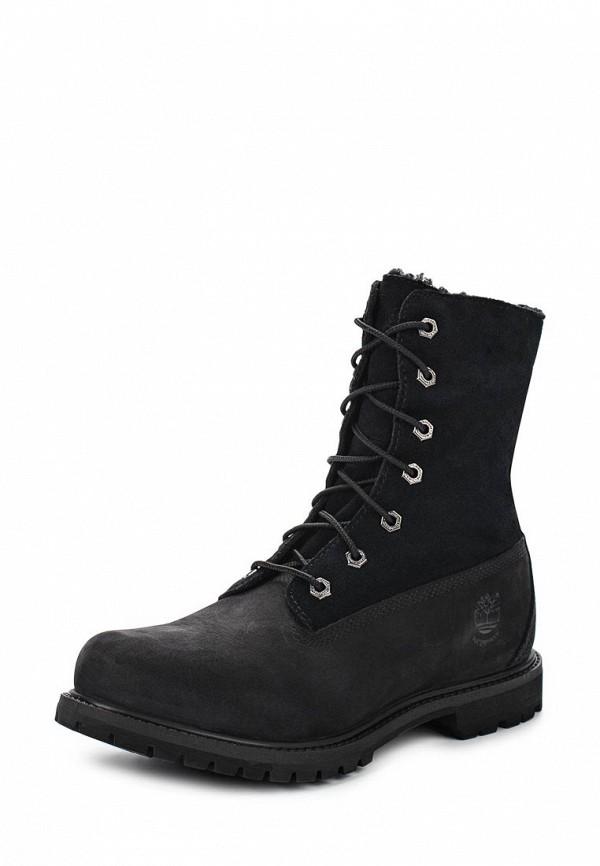 Фото - женские ботинки и полуботинки Timberland черного цвета