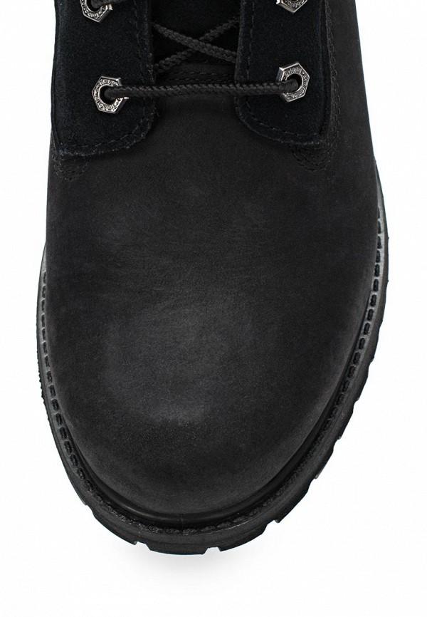 Фото 4 - женские ботинки и полуботинки Timberland черного цвета