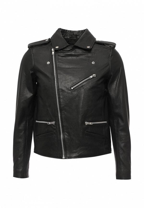 Кожаная куртка Topman (Топмэн) 64L05MBLK