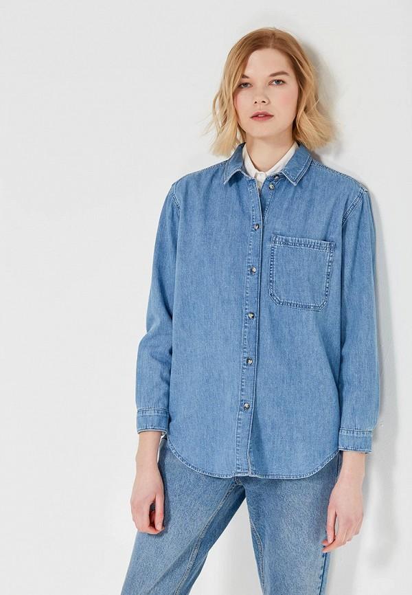 cc45f0171c28a1e Купить Рубашку джинсовая Topshop 05H03NMDT арт. TO029EWALTM5 синего ...