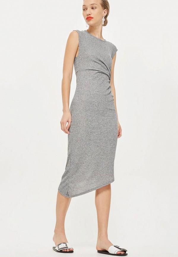 Купить Платье Topshop, TO029EWBJGJ0, серый, Весна-лето 2018