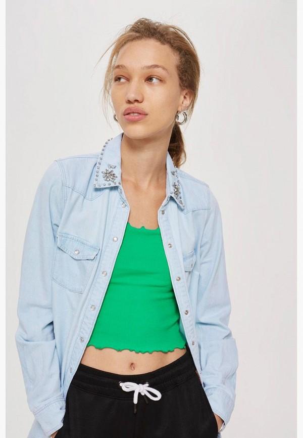 Фото Рубашка джинсовая Topshop. Купить с доставкой
