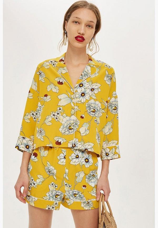 Купить Блуза Topshop, TO029EWBQGO5, желтый, Осень-зима 2018/2019
