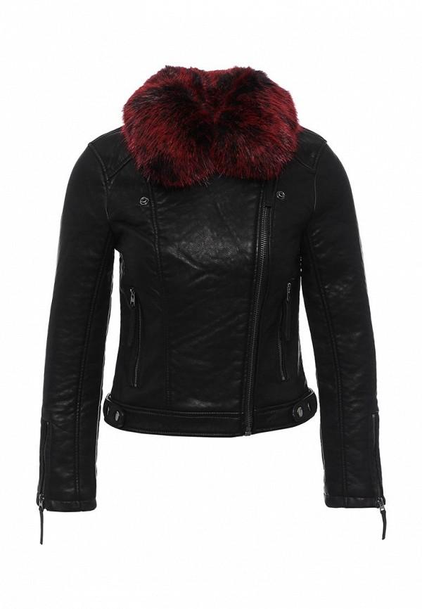 Кожаная куртка Topshop 11P11KBLK