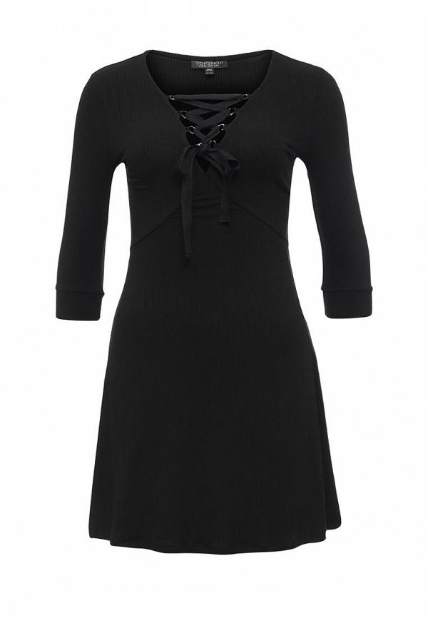 Платье-мини Topshop 10J53KBLK