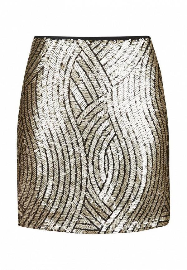 Купить женскую юбку Topshop золотого цвета