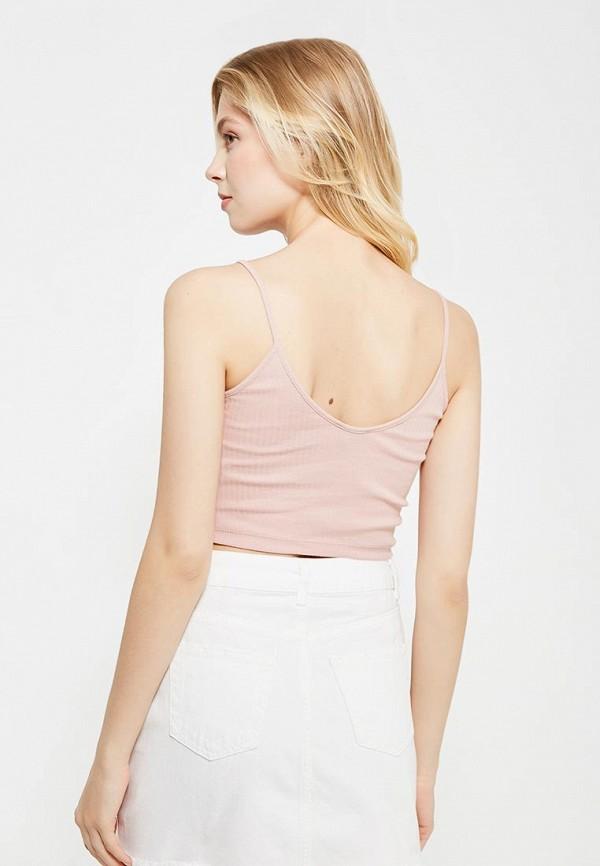 Фото 3 - женский топ Topshop розового цвета