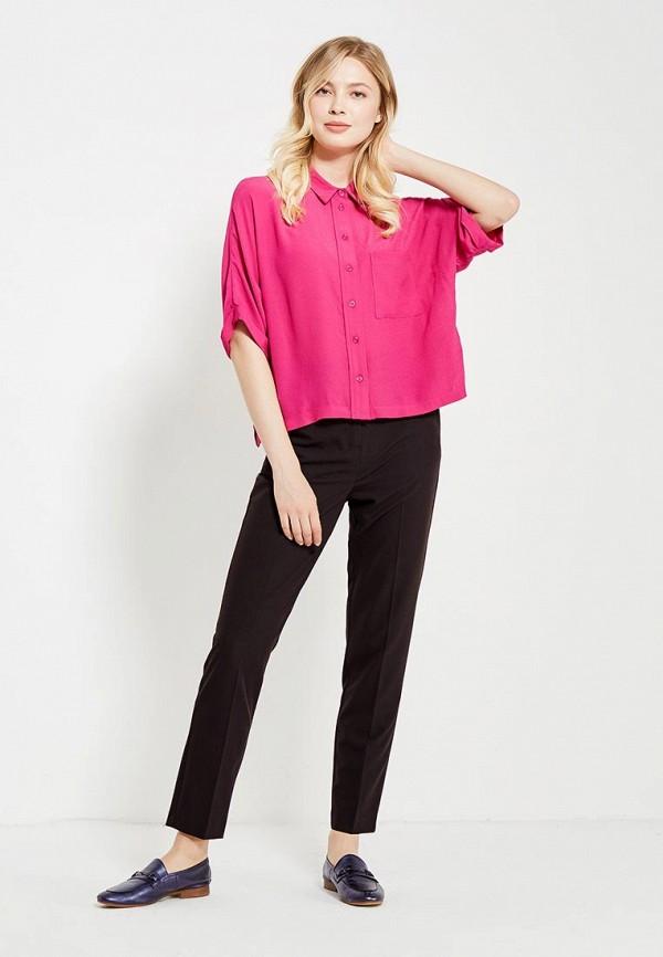 Фото 2 - женскую рубашку Topshop розового цвета