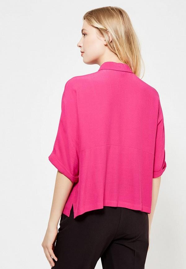 Фото 3 - женскую рубашку Topshop розового цвета