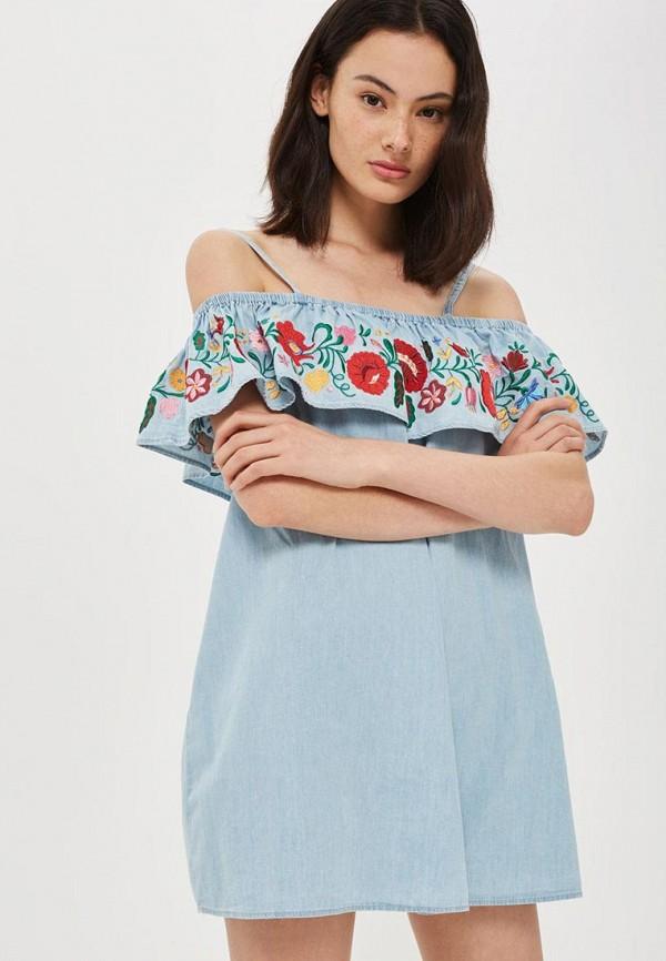 Платье джинсовое Topshop Topshop TO029EWVIE52 джинсовое платье