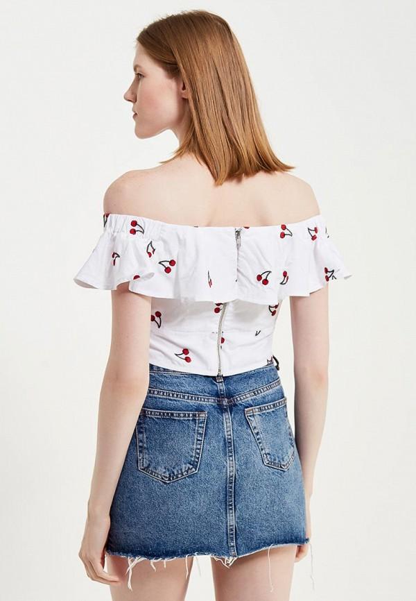 Фото 3 - женскую блузку Topshop белого цвета