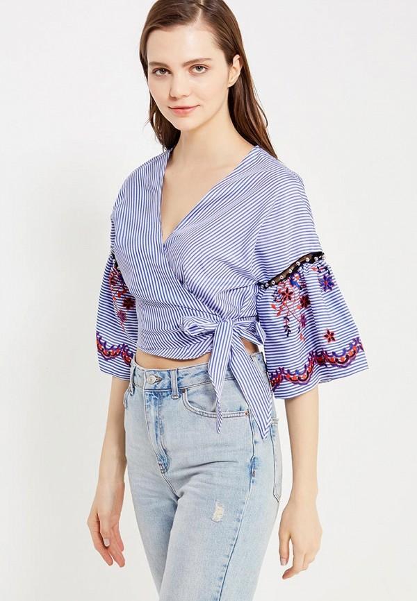 Фото - женскую блузку Topshop синего цвета