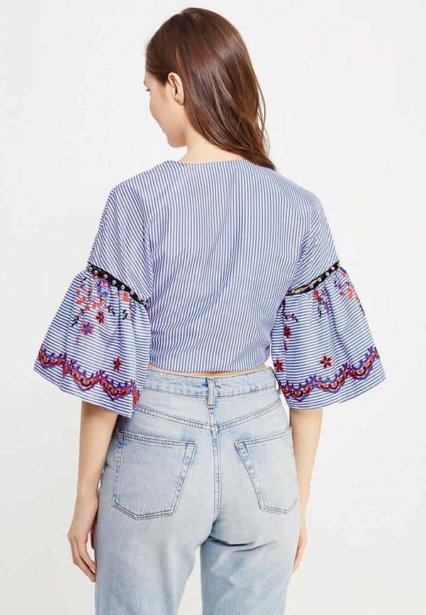 Фото 3 - женскую блузку Topshop синего цвета
