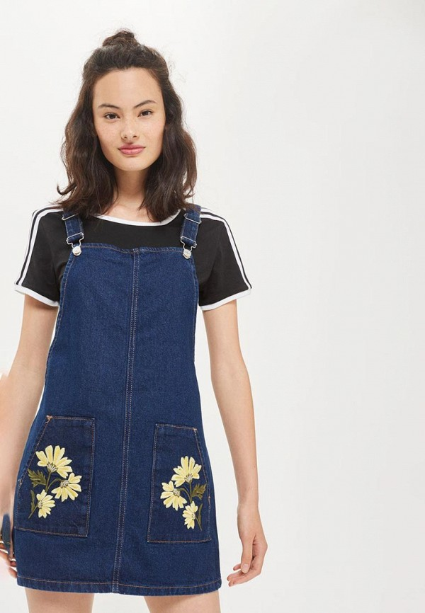 Платье джинсовое Topshop. Цвет: синий