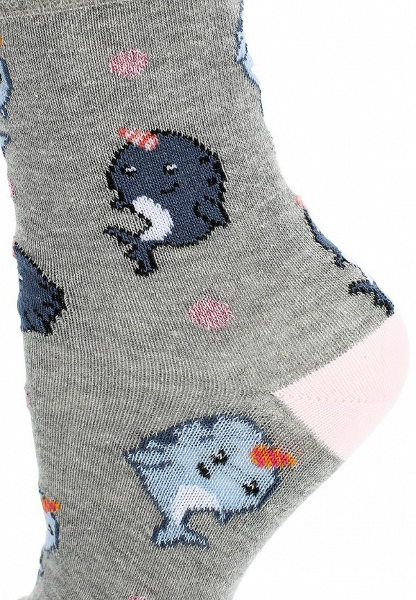 Фото 2 - женские носки или гольфы Topshop серого цвета
